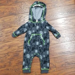 Cat & Jack Fall hooded monster sweatsuit